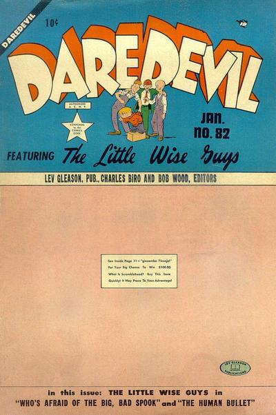 Cover for Daredevil Comics (Lev Gleason, 1941 series) #82