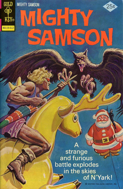 Cover for Mighty Samson (Western, 1964 series) #30 [Whitman cover]