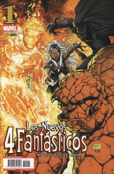 Cover for Los 4 Fantásticos (Panini España, 2008 series) #1