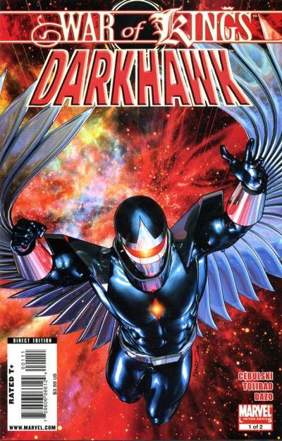 Cover for War of Kings: Darkhawk (Marvel, 2009 series) #1