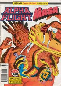 Cover Thumbnail for Marvel Two-In-One Alpha Flight & La Masa (Planeta DeAgostini, 1988 series) #43
