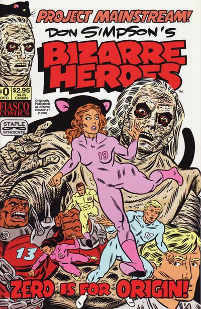 Cover for Don Simpson's Bizarre Heroes (Fiasco Comics, 1994 series) #0