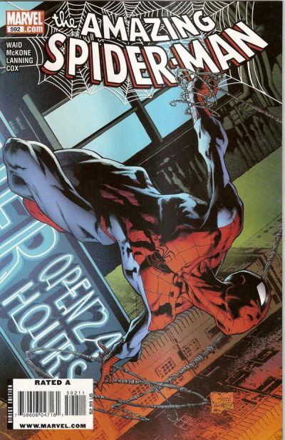 Cover for The Amazing Spider-Man (Marvel, 1999 series) #592 [Rivera Wolverine Art Appreciation Cover]