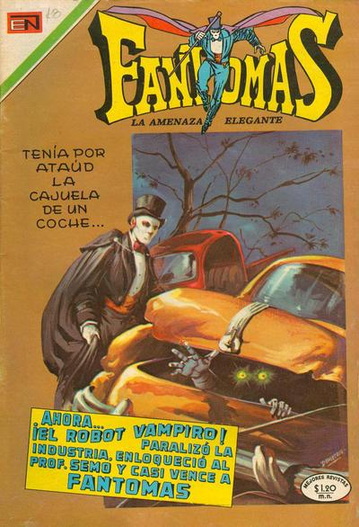 Cover for Fantomas (Editorial Novaro, 1969 series) #28