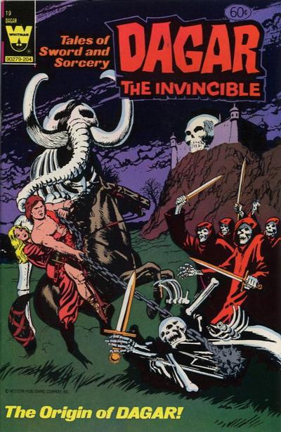 Cover for Tales of Sword and Sorcery Dagar the Invincible (Western, 1972 series) #19 [White Whitman Logo]