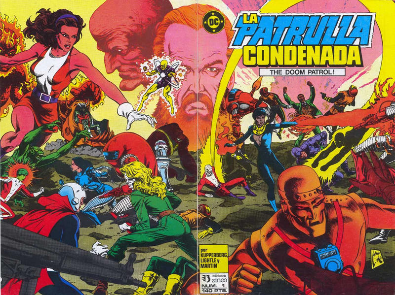 Cover for Patrulla Condenada (Zinco, 1988 series) #1