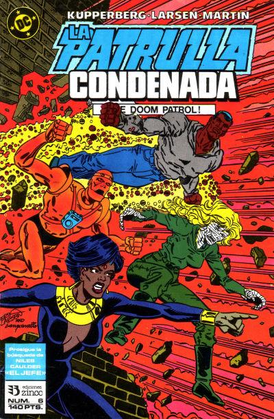 Cover for Patrulla Condenada (Zinco, 1988 series) #6