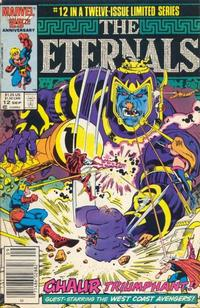 Cover Thumbnail for Eternals (Marvel, 1985 series) #12 [Newsstand Edition]