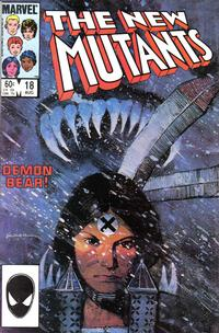 Cover Thumbnail for The New Mutants (Marvel, 1983 series) #18 [Direct Edition]
