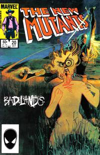 Cover Thumbnail for The New Mutants (Marvel, 1983 series) #20 [Direct Edition]