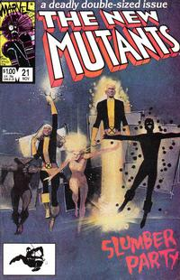 Cover Thumbnail for The New Mutants (Marvel, 1983 series) #21 [Direct Edition]