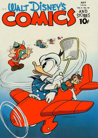 Cover Thumbnail for Walt Disney's Comics and Stories (Dell, 1940 series) #v3#10 (34)