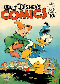 Cover Thumbnail for Walt Disney's Comics and Stories (Dell, 1940 series) #v4#7 (43)