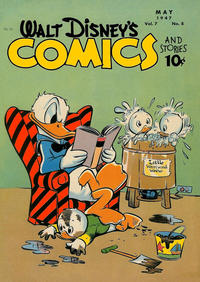 Cover Thumbnail for Walt Disney's Comics and Stories (Dell, 1940 series) #v7#8 (80)