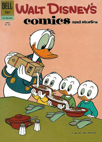 Cover Thumbnail for Walt Disney's Comics and Stories (Dell, 1940 series) #v22#7 (259)