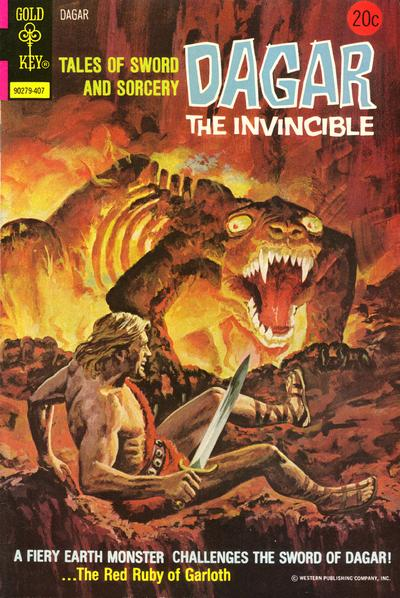 Cover for Tales of Sword and Sorcery Dagar the Invincible (Western, 1972 series) #8 [Gold Key]