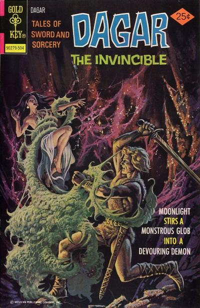 Cover for Tales of Sword and Sorcery Dagar the Invincible (Western, 1972 series) #11 [Gold Key Variant]