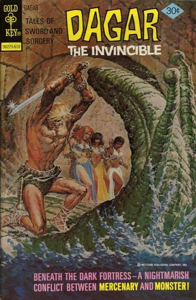 Cover for Tales of Sword and Sorcery Dagar the Invincible (Western, 1972 series) #17 [Whitman]