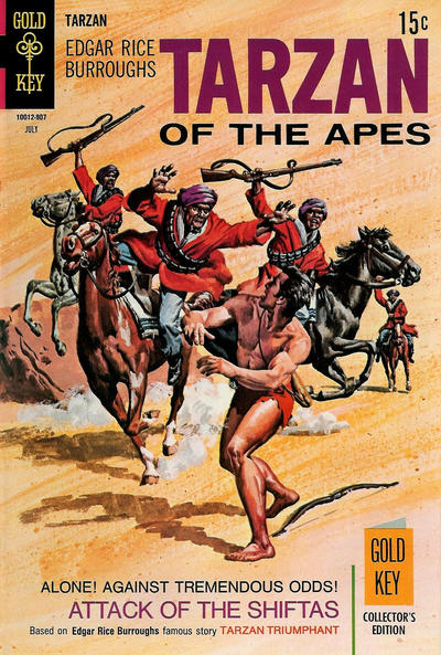Cover for Edgar Rice Burroughs' Tarzan of the Apes (Western, 1962 series) #185