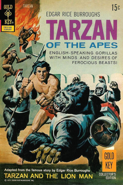 Cover for Edgar Rice Burroughs' Tarzan of the Apes (Western, 1962 series) #206