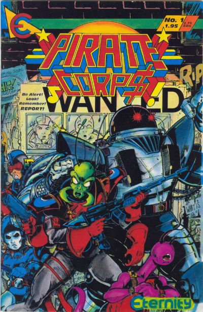 Cover for Pirate Corp$! (Eternity, 1987 series) #1