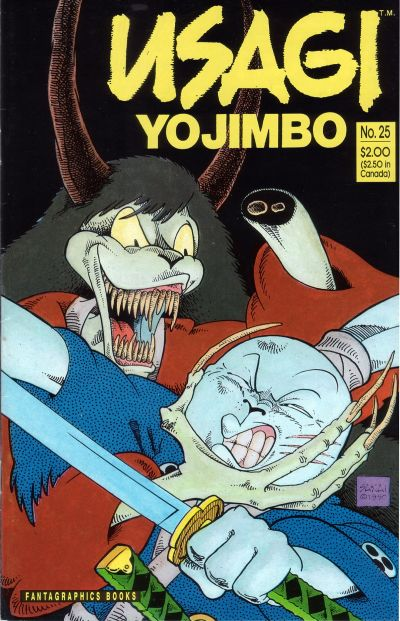 Cover for Usagi Yojimbo (Fantagraphics, 1987 series) #25