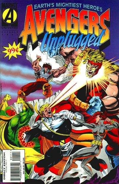 Cover for Avengers Unplugged (Marvel, 1995 series) #1 [Direct Edition]