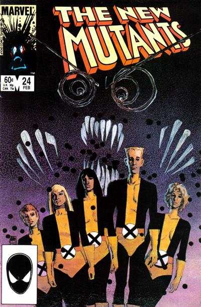 Cover for The New Mutants (Marvel, 1983 series) #24 [Newsstand Edition]
