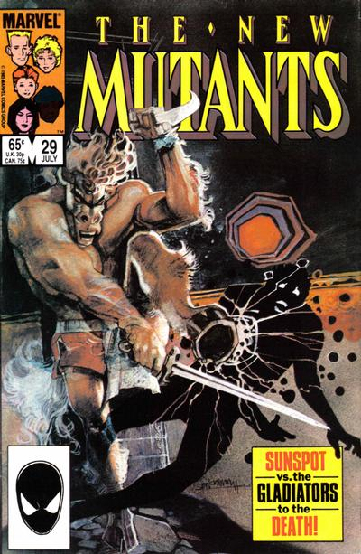 Cover for The New Mutants (Marvel, 1983 series) #29