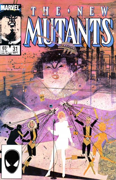 Cover for The New Mutants (Marvel, 1983 series) #31 [Newsstand Edition]