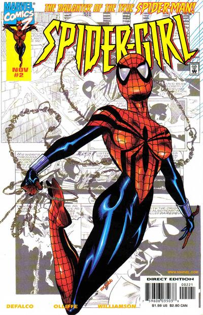 Cover for Spider-Girl (Marvel, 1998 series) #2 [Newsstand Edition]