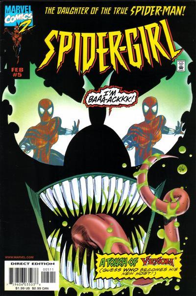 Cover for Spider-Girl (Marvel, 1998 series) #5