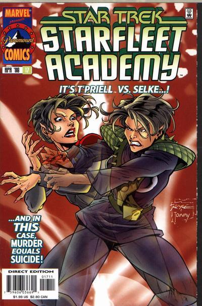 Cover for Star Trek: Starfleet Academy (Marvel, 1996 series) #17
