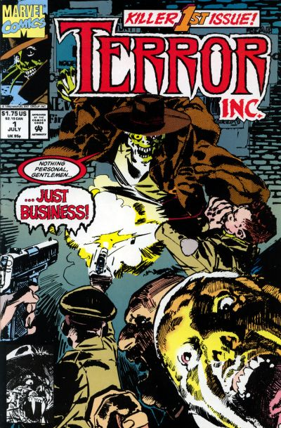 Cover for Terror Inc. (Marvel, 1992 series) #1