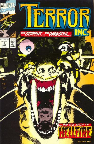 Cover for Terror Inc. (Marvel, 1992 series) #2