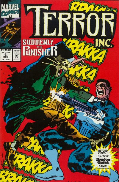 Cover for Terror Inc. (Marvel, 1992 series) #6