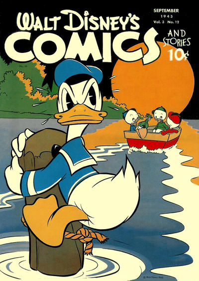 Cover for Walt Disney's Comics and Stories (Dell, 1940 series) #v3#12 (36)