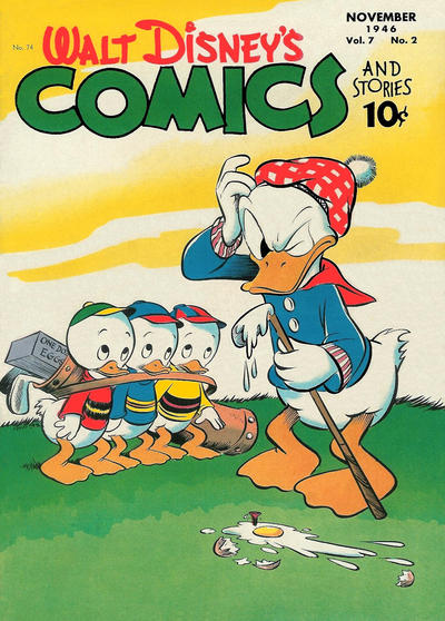 Cover for Walt Disney's Comics and Stories (Dell, 1940 series) #v7#2 (74)