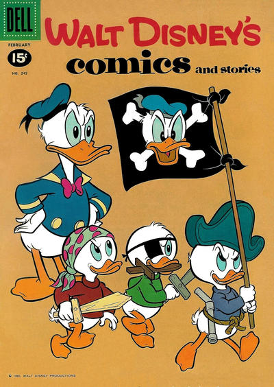Cover for Walt Disney's Comics and Stories (Dell, 1940 series) #v21#5 (245)