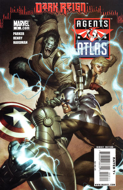 Cover for Agents of Atlas (Marvel, 2009 series) #3 [Variant Cover]