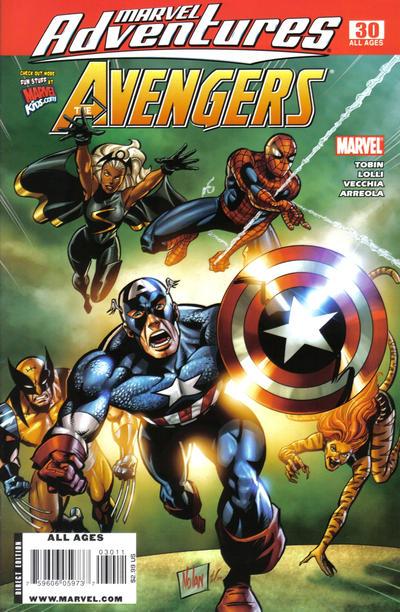 Cover for Marvel Adventures The Avengers (Marvel, 2006 series) #30