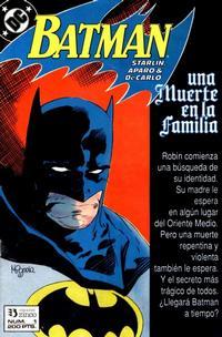 Cover Thumbnail for Batman [Batman Una muerte en la Familia] (Zinco, 1989 series) #1