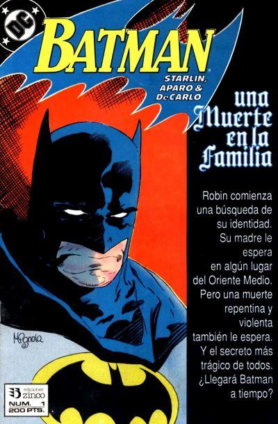 Cover for Batman [Batman Una muerte en la Familia] (Zinco, 1989 series) #1