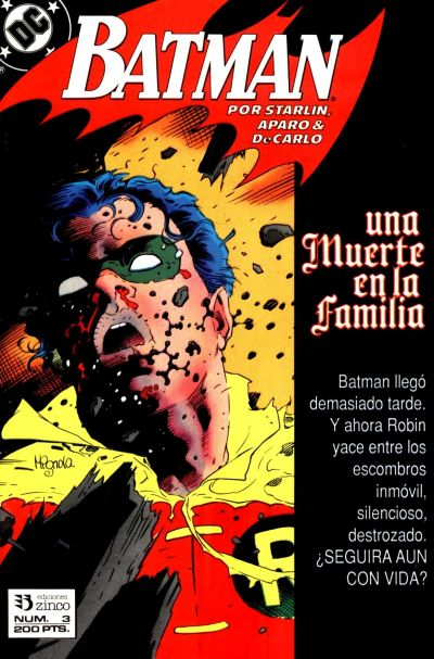 Cover for Batman [Batman Una muerte en la Familia] (Zinco, 1989 series) #3