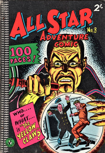 Cover for All Star Adventure Comic (K. G. Murray, 1959 series) #3