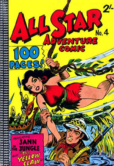 Cover for All Star Adventure Comic (K. G. Murray, 1959 series) #4