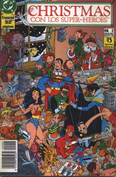 Cover for Christmas con los superhéroes (Zinco, 1989 series) #2
