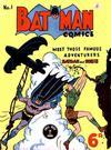 Cover for Batman Comics (K. G. Murray, 1950 series) #1