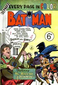Cover Thumbnail for Batman (K. G. Murray, 1950 series) #75
