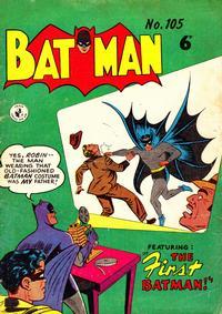 Cover Thumbnail for Batman (K. G. Murray, 1950 series) #105
